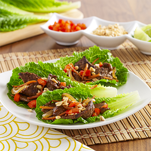 Spicy Steak Lettuce Wraps